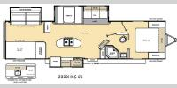 Floorplan - 2017 Coachmen RV Catalina Legacy 333BHKSCK