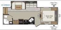 Floorplan - 2017 Keystone RV Passport 2510RBWE Grand Touring