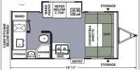 Floorplan - 2017 Coachmen RV Apex Nano 172CKS
