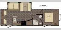 Floorplan - 2017 CrossRoads RV Sunset Trail Super Lite ST260RL