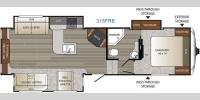 Floorplan - 2017 Keystone RV Outback 315FRE