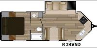 Floorplan - 2017 Cruiser Radiance Touring R-24VSD