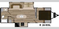 Floorplan - 2017 Cruiser Radiance Touring R-26KISL