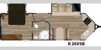 Floorplan - 2017 Cruiser Radiance Touring R-26VSB