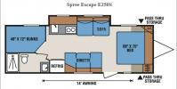 Floorplan - 2017 KZ Spree Escape E250S