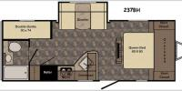 Floorplan - 2017 CrossRoads RV Sunset Trail Ultra Lite 237BH