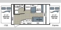 Floorplan - 2017 Dutchmen RV Kodiak Express 172E