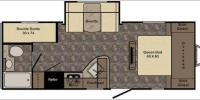 Floorplan - 2017 CrossRoads RV Maple Country MC237BH