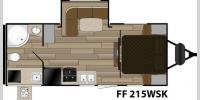 Floorplan - 2017 Cruiser Fun Finder XTREME LITE F-215WSK