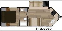 Floorplan - 2017 Cruiser Fun Finder XTREME LITE F-229VSD