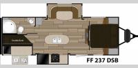 Floorplan - 2017 Cruiser Fun Finder XTREME LITE F-237DSB