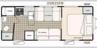 Floorplan - 2017 Bigfoot Industries Bigfoot 2500 Series Travel Trailer 25B25FB