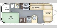 Floorplan - 2017 Airstream RV International Signature 23D