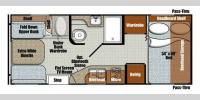 Floorplan - 2016 Gulf Stream RV Vista Cruiser 19DSR
