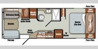 Floorplan - 2016 Gulf Stream RV Vista Cruiser 23DSR