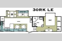 Floorplan - 2008 Forest River RV Cardinal LE 30RK