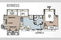 Floorplan - 2013 Forest River RV Flagstaff Classic Super Lite 831RESS