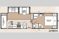 Floorplan - 2007 Coachmen RV Chaparral Lite 269BHS