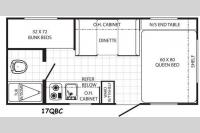 Floorplan - 2014 Palomino Canyon Cat 17QBC