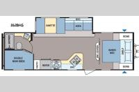 Floorplan - 2015 Dutchmen RV Coleman Lantern Series 262BHS