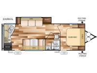 Floorplan - 2017 Forest River RV Wildwood X-Lite 231RKXL