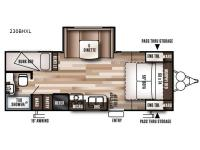 Floorplan - 2017 Forest River RV Wildwood X-Lite 230BHXL