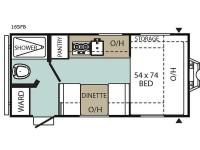 Floorplan - 2017 Coachmen RV Viking Saga 16SFB