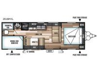 Floorplan - 2017 Forest River RV Wildwood X-Lite 261BHXL