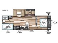 Floorplan - 2017 Forest River RV Wildwood 28DBUD