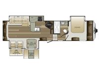 Floorplan - 2017 Keystone RV Cougar 327RES