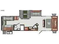 Floorplan - 2017 Gulf Stream RV Gulf Breeze Ultra Lite 28 DBQ