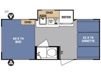Floorplan - 2017 Forest River RV R Pod RP-177
