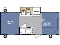 Floorplan - 2017 Forest River RV R Pod RP-178