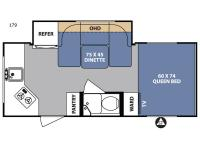 Floorplan - 2017 Forest River RV R Pod RP-179