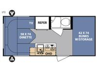 Floorplan - 2017 Forest River RV R Pod RP-172