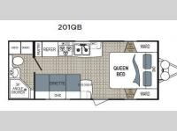 Floorplan - 2017 Dutchmen RV Kodiak Ultra Lite 201QB