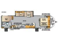 Floorplan - 2017 Forest River RV Wildcat Maxx 30DBH