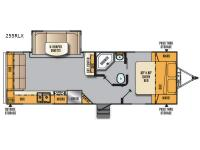 Floorplan - 2017 Forest River RV Wildcat Maxx 255RLX