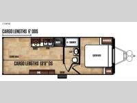 Floorplan - 2017 Forest River RV Work and Play FRP Series 25WAB
