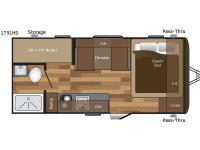 Floorplan - 2017 Keystone RV Hideout Single Axle 175LHS