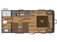 Floorplan - 2017 Keystone RV Hideout Single Axle 178LHS