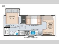 Floorplan - 2017 Thor Motor Coach Four Winds 22B Chevy