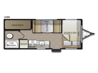 Floorplan - 2017 Pacific Coachworks Tango Mini 16BB