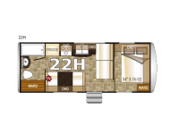 Floorplan - 2016 Northwood Nash 22H