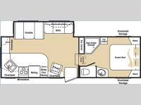 Floorplan - 2006 Keystone RV Cougar 278EFS