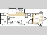 Floorplan - 2006 Keystone RV Cougar 306BHS