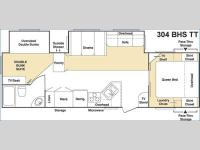 Floorplan - 2005 Keystone RV Cougar 304BHS