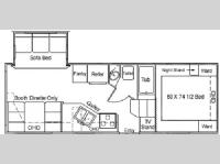 Floorplan - 2004 Northwood Arctic Fox 23-5 A