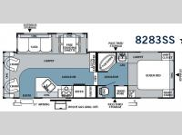 Floorplan - 2008 Forest River RV Rockwood 8283SS