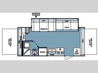 Floorplan - 2008 Forest River RV Rockwood Roo 21SS